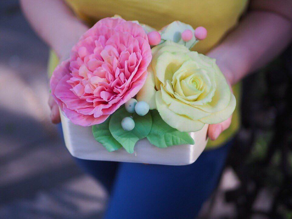 Шоколадные цветы